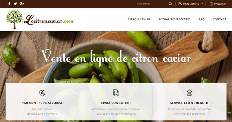 Site e-commerce lecitroncaviar.com
