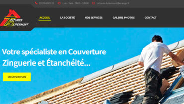Site internet Toitures Dufermont